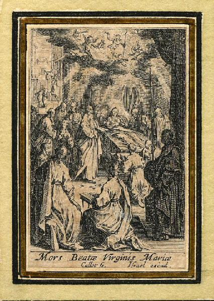 CALLOT Jacques (graveur), HENRIET Israël (graveur) : Vie de la sainte Vierge (13), Ensevelissement de la Vierge