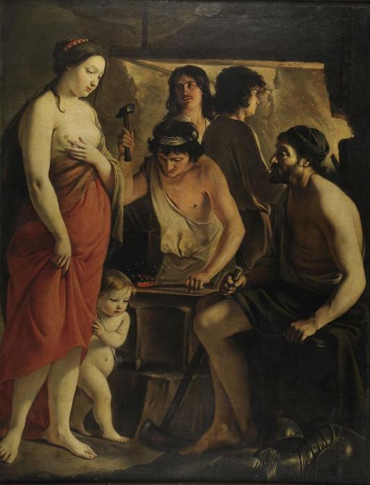 LE NAIN (peintre) : Vénus dans la forge de Vulcain