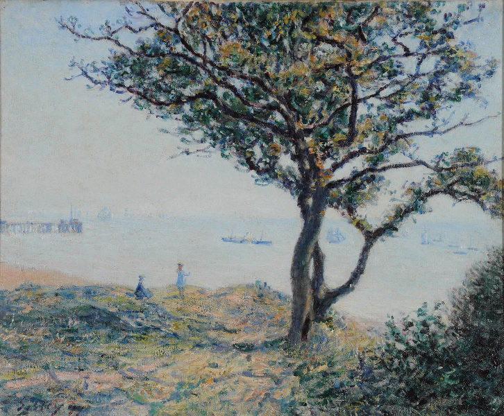 SISLEY Alfred (peintre) : La rade de Cardiff