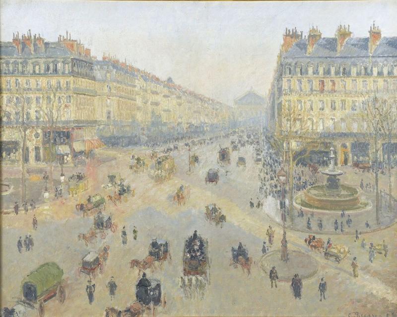 L'Avenue de l'Opéra (titre attribué) ; Place du Théâtre-Français (autre titre)