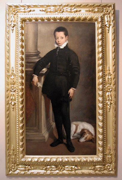 Portrait de Maximilien Stampa (titre attribué) ; Portrait présumé de don Philippo Prospero, prince des Asturies (ancien titre)