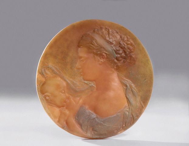 CHAPU Henri Michel Antoine (sculpteur), DAUM (verrier) : La Jeune Mère