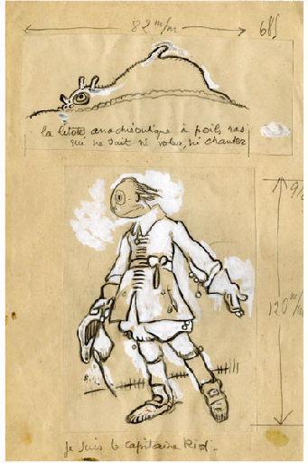 BLANCHOT Gustave (dessinateur), BOFA Gus (dit, dessinateur) : U-713 ou les gentilshommes d'infortune : La litote anachréontique à poils ras qui ne sait ni voler, ni chanter. Je suis le capitaine Rid