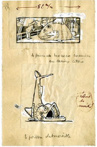 U-713 ou les gentilshommes d'infortune : Le prince de Monaco examine un curieux cétacé. Le poisson submersible_0