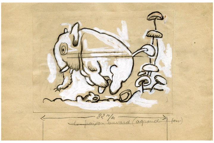 BLANCHOT Gustave (dessinateur), BOFA Gus (dit, dessinateur) : U-713 ou les gentilshommes d'infortune : Le poisson buvard (agrandi 7 fois)
