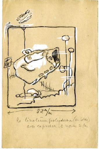 BLANCHOT Gustave (dessinateur), BOFA Gus (dit, dessinateur) : U-713 ou les gentilshommes d'infortune : : Le linoléum polyderme (en solde) avec capuchon : 2 marks de plus.