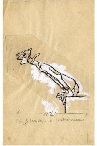 BLANCHOT Gustave (dessinateur), BOFA Gus (dit, dessinateur) : U-713 ou les gentilshommes d'infortune : Fritz, le Périscope à l'entraînement