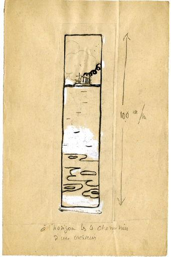 BLANCHOT Gustave (dessinateur), BOFA Gus (dit, dessinateur) : U-713 ou les gentilshommes d'infortune : A l'horizon, les 4 cheminées d'un croiseur