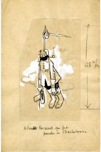 BLANCHOT Gustave (dessinateur), BOFA Gus (dit, dessinateur) : U-713 ou les gentilshommes d'infortune : Black Beard qui fut pendu à Charleston