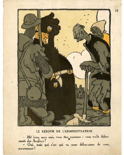 BLANCHOT Gustave (dessinateur), BOFA Gus (dit, dessinateur); DUMARCHEY Pierre (écrivain), MAC ORLAN Pierre (dit, écrivain) : Livre de la Guerre de Cent Ans (Le): Le retour de l'administration ...