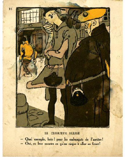BLANCHOT Gustave (dessinateur), BOFA Gus (dit, dessinateur); DUMARCHEY Pierre (écrivain), MAC ORLAN Pierre (dit, écrivain) : Livre de la Guerre de Cent Ans (Le) : Le glorieux blessé ...