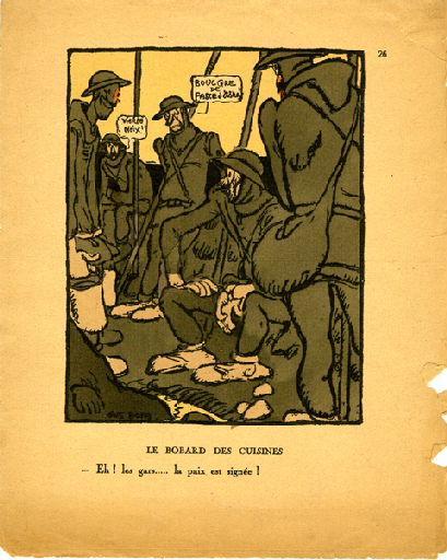 BLANCHOT Gustave (dessinateur), BOFA Gus (dit, dessinateur), DUMARCHEY Pierre (écrivain), MAC ORLAN Pierre (dit, écrivain) : Livre de la Guerre de Cent Ans (Le) : Le bobard des cuisines