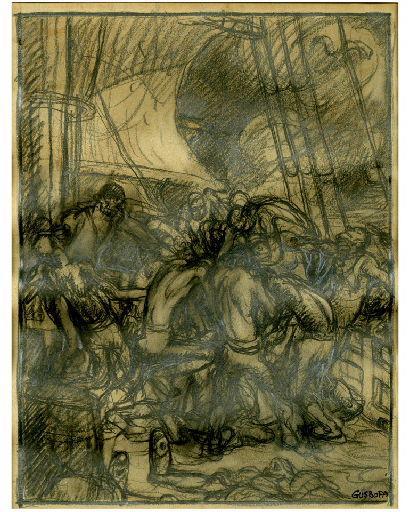 Ils étaient 15 matelots Sur le coffre du mort, Quinze loups, quinze matelots Yohoho, Yohoho ! qui voulaient sa bouteille !! Stevenson (Chanson des pirates) (titre factice)_0