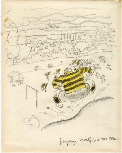 BLANCHOT Gustave (dessinateur), BOFA Gus (dit, dessinateur) : Paysage sportif pour Mac Orlan, Voie libre, notes de tourisme syncopé (La)