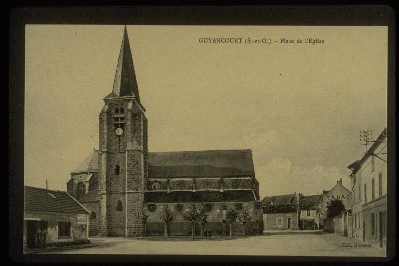 GINESTET (éditeur) : GUYANCOURT : Place de l'Eglise