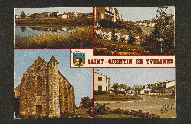 ESTEL (éditeur) : ELANCOURT - SAINT-QUENTIN EN YVELINES : Le lac - La Chapelle de la Villedieu - Les résidences de la Commanderie.