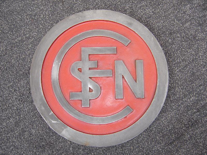 plaque circulaire SNCF