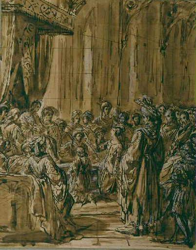 Valentine de Milan demande justice pour l'assassinat du duc d'Orléans son époux, novembre 1407_0