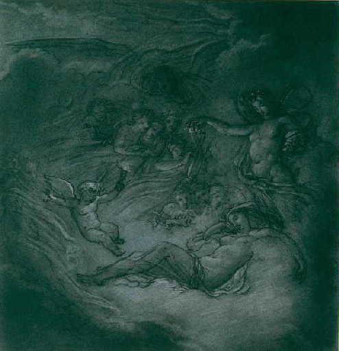 Scène mythologique, Zéphir et Flore_0