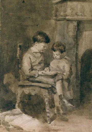 Louis et Georges Lacombe, enfants, à Versailles_0