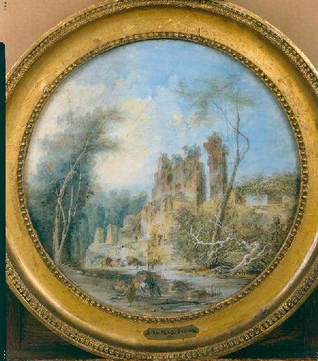 Ruines au bord de la rivière_0