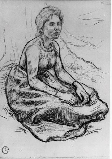 Marthe Wenger assise (future femme de l'artiste)
