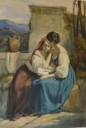 Jeune fille lisant une lettre_0