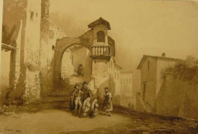 La madone (vue d'un village italien)_0