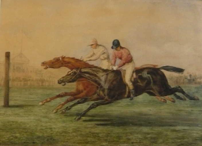 Course à Chantilly ; A horse race (autre titre)_0