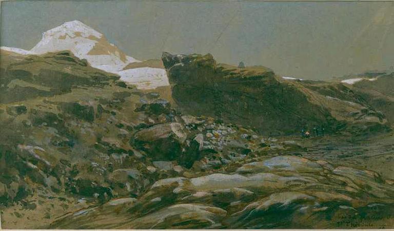 Le bas du glacier de Saint-Théodule