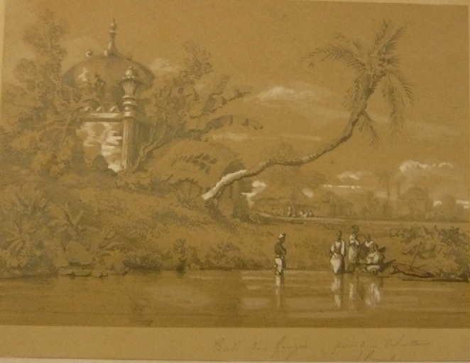 Le Gange près de Calcutta