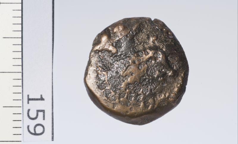 Petit bronze au dieu Bès sur les deux faces_0