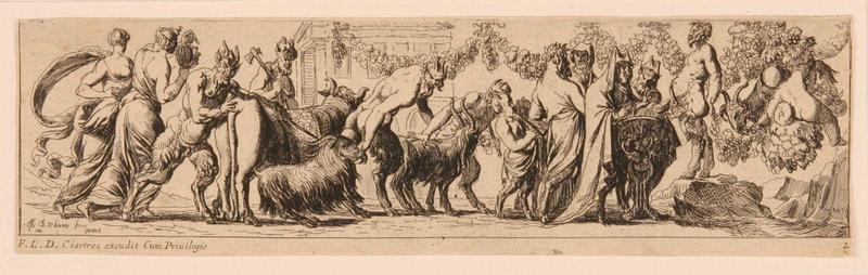 Frises romaines des cortèges sacrificiels et des bacchanales (02) : Cortège sacrificiel aux boucs et au boeuf