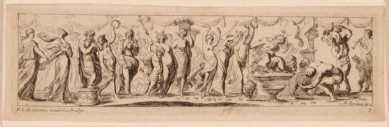 Frises romaines des cortèges sacrificiels et des bacchanales (03) : Cortège sacrificiel au satyre_0