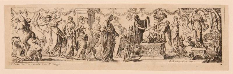 Frises romaines des cortèges sacrificiels et des bacchanales (04) : Cortège sacrificiel en hommage à Diane_0