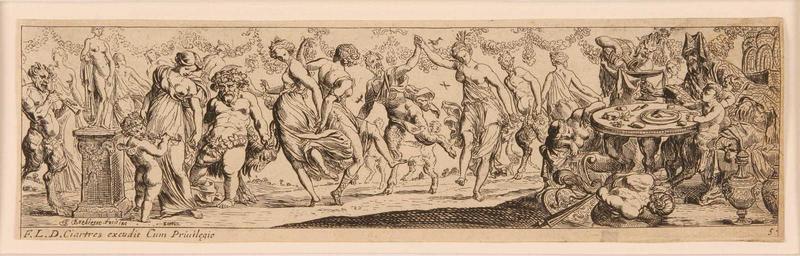 Frises romaines des cortèges sacrificiels et des bacchanales (05) : Bacchanale au banquet_0