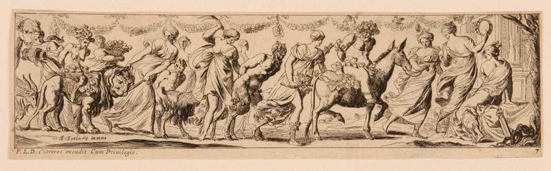 Frises romaines des cortèges sacrificiels et des bacchanales (07) : Cortège de Silène_0