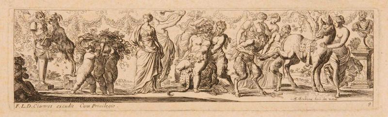Frises romaines des cortèges sacrificiels et des bacchanales (09) : Repos de Silène