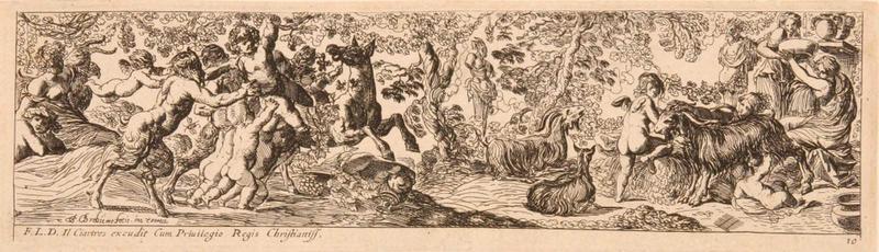 Frises romaines des cortèges sacrificiels et des bacchanales (10) : Jeux entre amours et satyres_0