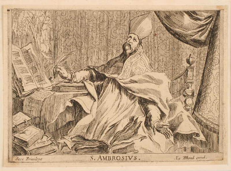 Suite des quatre docteurs de l'Eglise : Saint Ambroise_0