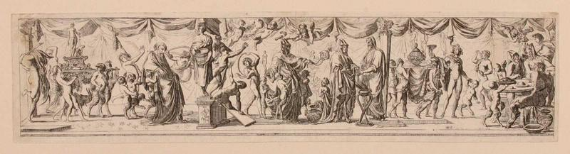 Satyres célébrant les offrandes de Bacchus_0