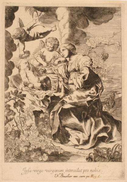 Vierge veillant sur l'Enfant endormi ; Repos de la Sainte Famille_0