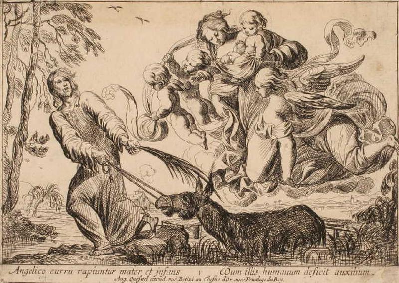 Vierge et l'Enfant survolant le marais ; Saint Joseph sortant l'âne du marais_0
