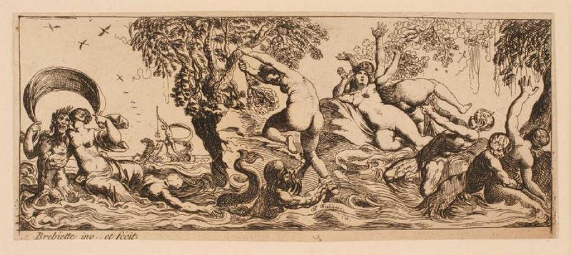 Ensemble dit Petites frises : Pan, néréides et tritons ; Triomphes marins 5_0
