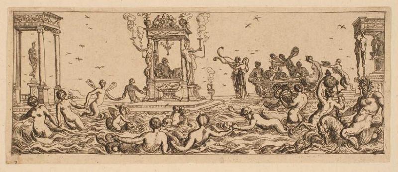 Ensemble dit Petites frises : Triomphes marins (02) : Fête aquatique_0