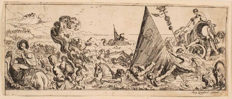 Passage de la mer Rouge ; Armée de Pharaon submergée_0