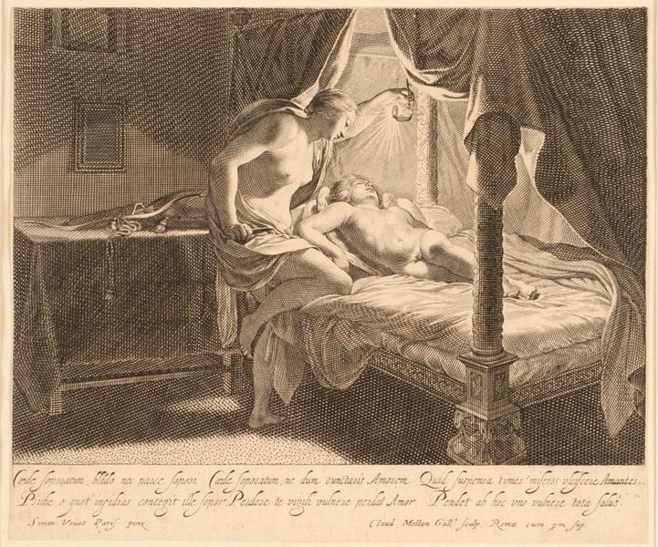 Psyché regardant l'Amour endormi