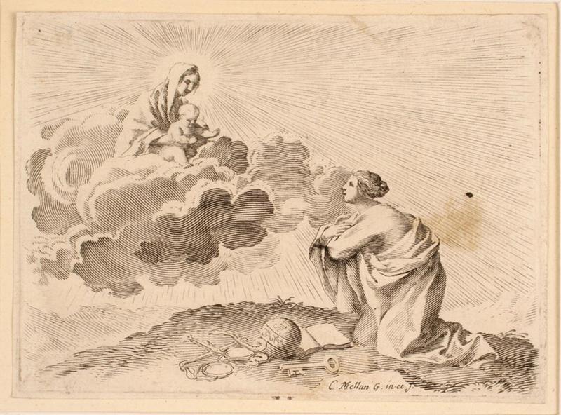 Vierge à l'Enfant apparaissant à l'Eglise romaine_0