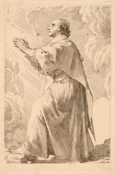 Saint personnage en prières ; Saint Etienne diacre