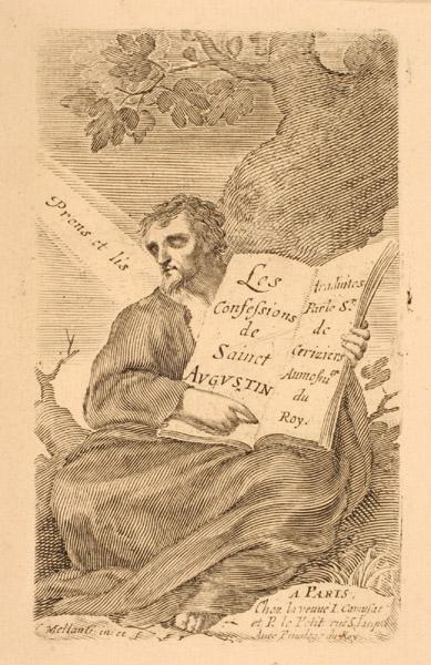 Titre-frontispice ; Saint Augustin assis au pied d'un arbre_0